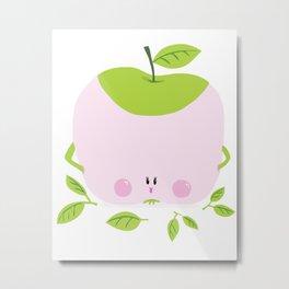 Miss Sweet Apple Metal Print