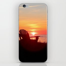 Chairs Sea and Sunset iPhone Skin
