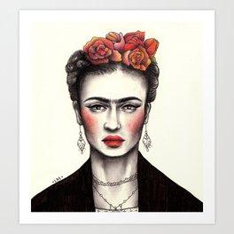 Bohemian Frida Art Print