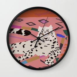 Snow Leopard - Black Panther  Wall Clock
