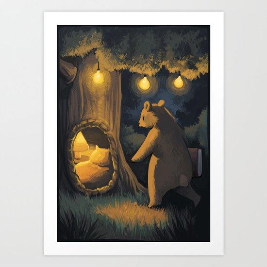 Go to sleep, little bear Art Print