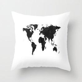 World Map Wall Art,World Map Canvas,World Map Print,World Map Poster,Printable Art,World Map Svg,Wat Throw Pillow