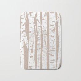 Woodcut Birches Bath Mat
