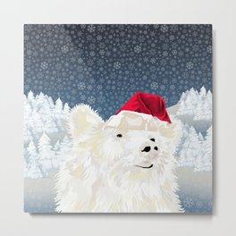 Beary Merry Christmas Metal Print