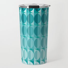 Leaves in the moonlight - a pattern in teal Travel Mug