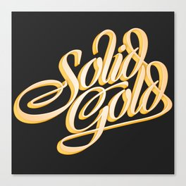 Solid Gold Canvas Print