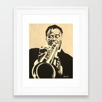 louis armstrong Framed Art Prints featuring Louis Armstrong by Anthony Bordelon