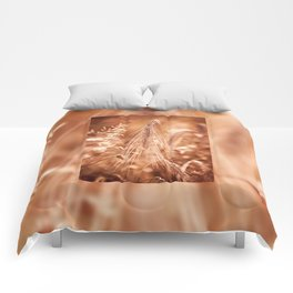 Golden old withered cereal ear grow Comforters