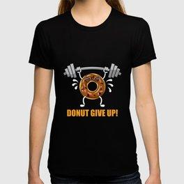 Donut Weight Lifting Fitness Gym Tshirt Donut T-shirt