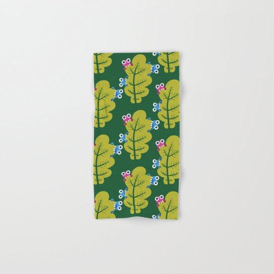 Bugs Eat Green Leaf Hand & Bath Towel