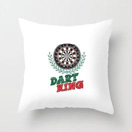 Dart King Archery Archer Sports Hobby Players Archery Lovers Throw Pillow