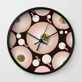 Lillias Right's Party Hats Wall Clock