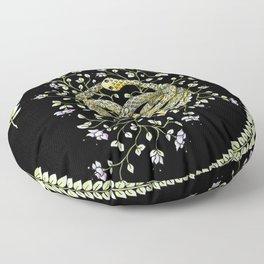 Neverending Story Inspired Auryn Garden in Black Floor Pillow