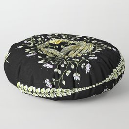 Neverending Story Inspired Auryn Garden in Black Floor Pillow