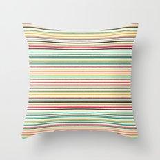 pop stripe Throw Pillow