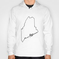 maine Hoodies featuring Maine by mrTidwell