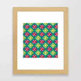 Berry Geo Aztec Framed Art Print