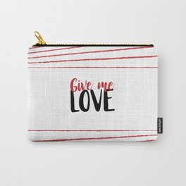 Give Me Love Doodle Lines Carry-All Pouch