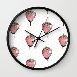 Strawberry Heaven Wall Clock