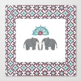 Elephant Honeymoon Canvas Print