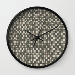 Mosaic pattern in Gray Green Color Wall Clock