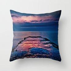 Ashbridges Bay Toronto Canada Dock At Sunrise No 1 Throw Pillow