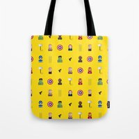 avenger Tote Bags featuring Avenger by ShannonHatchNZ