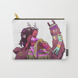 Love Peace and Llama Carry-All Pouch