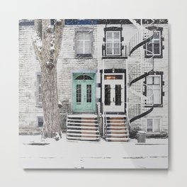 Snow in Montreal Metal Print