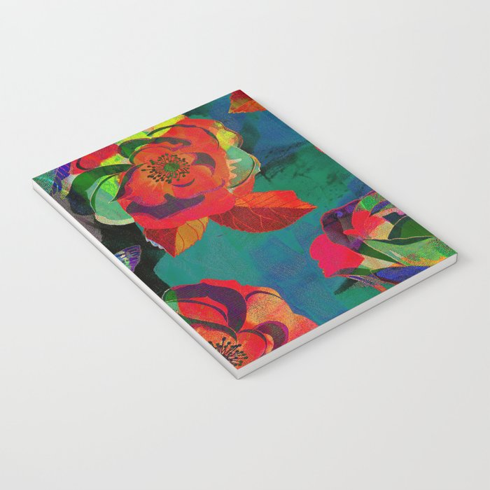 Floral Pattern Textile Notebook
