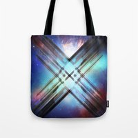 sci fi Tote Bags featuring Sci-Fi Shards by Alli Vanes