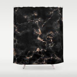 Chic abstract rose gold black elegant marble Shower Curtain