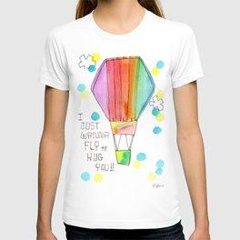 Just Wanna Fly hot air balloon illustration nursery decor kids room watercolor painting T-shirt