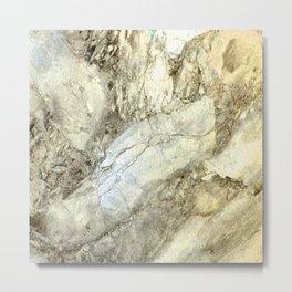 White Marble in Earth Tones Metal Print
