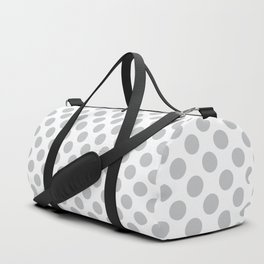 Light Grey Polka Dots Pattern Duffle Bag