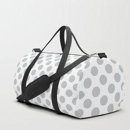 Light Grey Polka Dots Pattern Duffle Bag