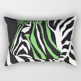 Nuclear Punk Rock Zebra Rectangular Pillow