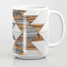 Urban Tribal Pattern 12 - Aztec - Wood Coffee Mug