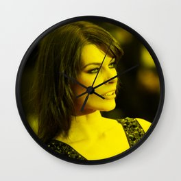 Milla Jovovich - Celebrity (Photographic Art) Wall Clock