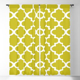 Arabesque Architecture Pattern In Yellow Blackout Curtain