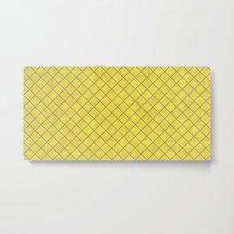 Pantone Illuminating Yellow Tiles Metal Print
