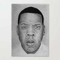 jay z Canvas Prints featuring Jay-z by pat langton
