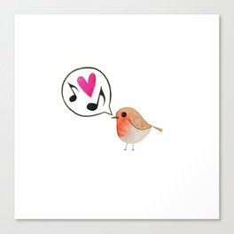 Reina: The singing bird Canvas Print
