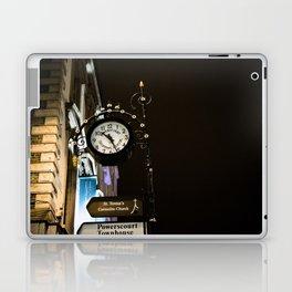 Clock in Grafton street, Dublin Laptop & iPad Skin