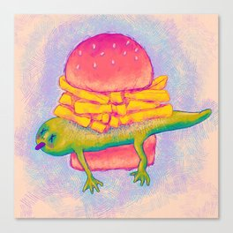 French Fry Newt Burger with Special Sauce Canvas Print