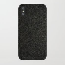 The Black leather iPhone Case