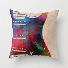 guitar art 2 Throw Pillow