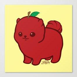 Apple Red Pom de Terrier Canvas Print