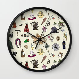 Peter Pan pattern Wall Clock