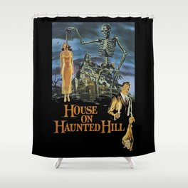 House On Haunted Hill, 1959 Campy Horror Movie Shower Curtain